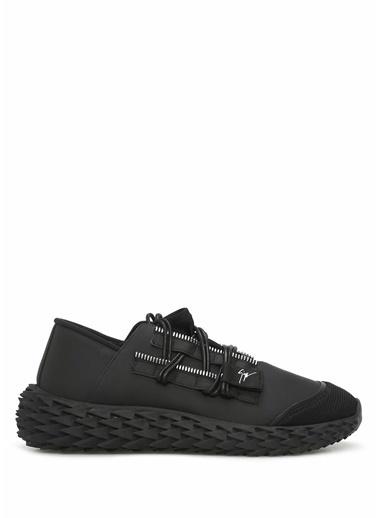 Giuseppe Zanotti Giuseppe Zanotti  Bağcıklı Erkek Deri Sneaker 101551033 Siyah